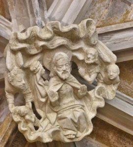 Clef de voûte Christ roi