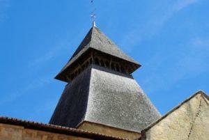 Le clocher bois de l'abbatiale