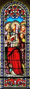Vitrail de l'abside Marie femmes au tombeau