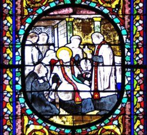 Mort de l'abbé de la Cropte entourage