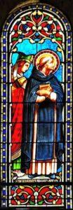 Vitrail de l'abside St Bernard et Adémar