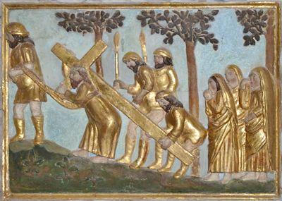 Chemin de croix retable de Carves