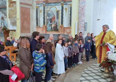 La bénédictions des enfants et des parents