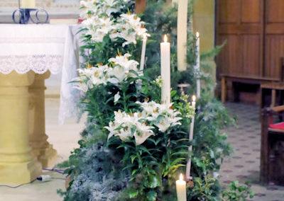 Le fleurissement de la croix